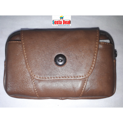 03 Pockets Push Button Leather Mobile Bag-C: 0328