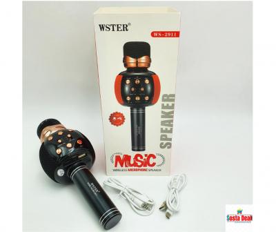 WSTER WS-2911 Karaoke KTV Mic-Portable Bluetooth Hifi Speaker Microphone-C: 0331
