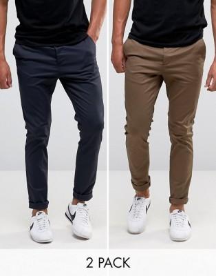 2 pcs Gabardine Pants For Gents GP-218