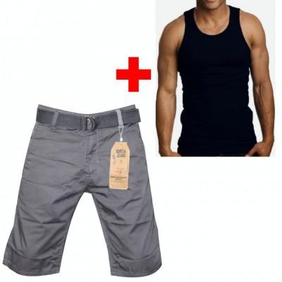Men Combo Gracia Jeans Branded half pant & Sleeve Less T-shirt GPH14