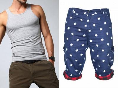 Men Combo Lakbuas  Branded half pant & Sleeve Less T-shirt GPH87