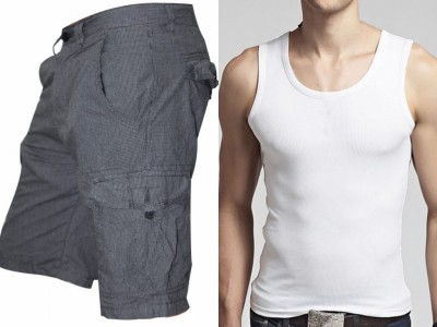Men Combo Lakbuas Branded half pant & Sleeve Less T-shirt GPH142