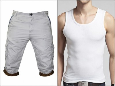 Men Combo Lakbuas Branded half pant & Sleeve Less T-shirt GPH146