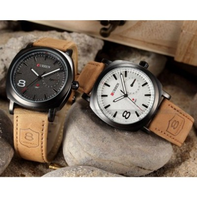 2 pcs Curren  Branded Wrist watch For Man Combo Pack MWW-053