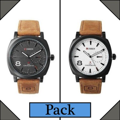 Curren  Branded Wrist watch For Man Combo Pack 2 pcs MWW-058
