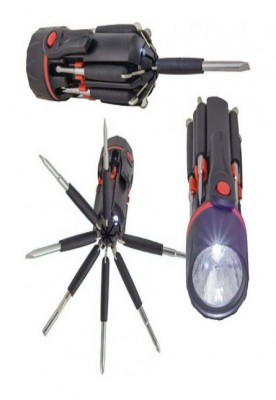 8 IN 1 multi-screwdriver with torch